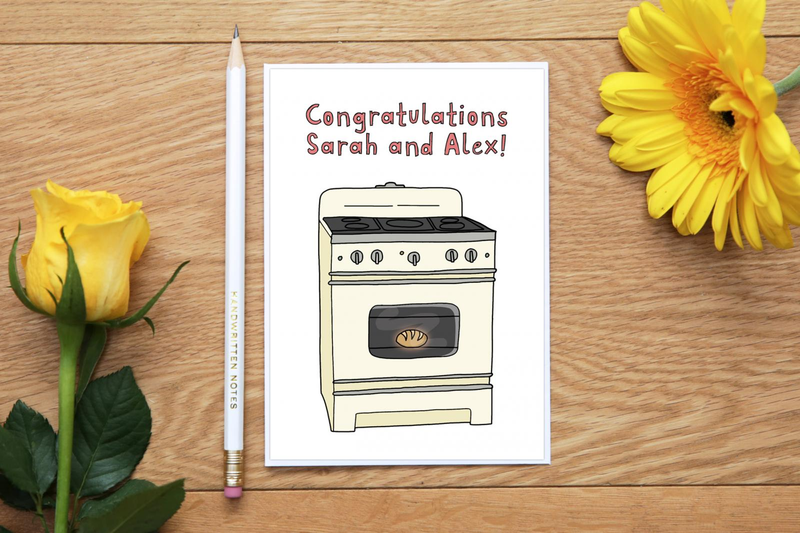 The perfect card to announce your pregnancy – Bun in the Oven Baby Announcement