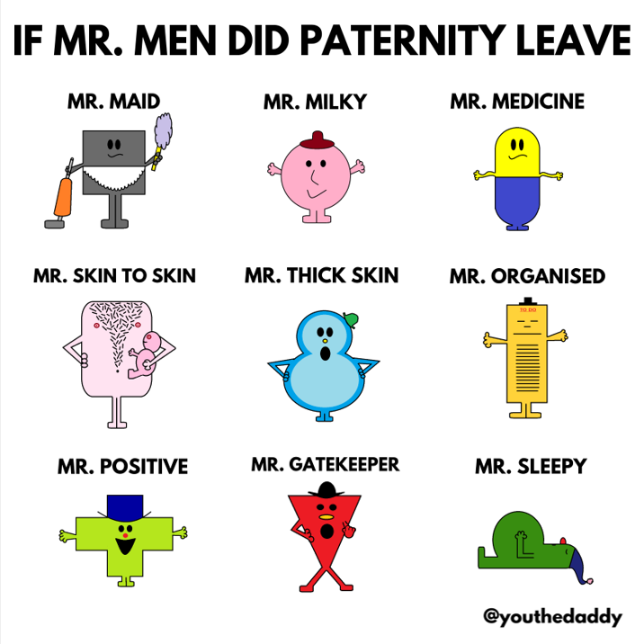 mr-men go on paternity leave