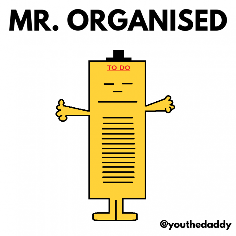 mr-organised goes on paternity leave