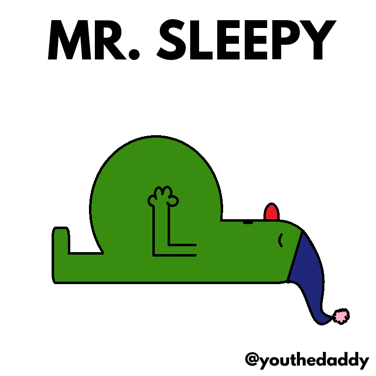 mr-sleepy goes on paternity leave