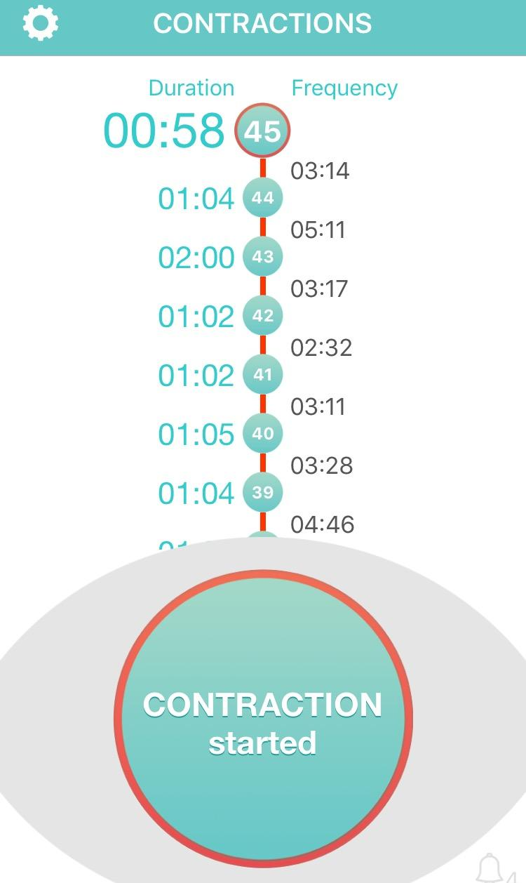 Contraction Tracker App - ready for birth