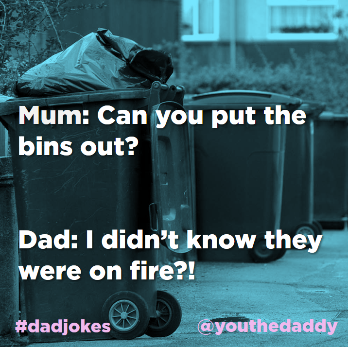 dad jokes -bins