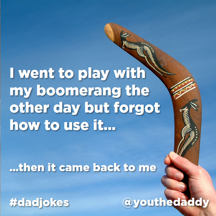 dad jokes - boomerang