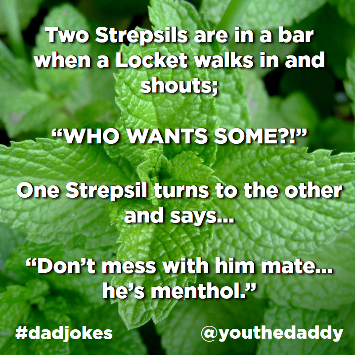 dad jokes - menthol