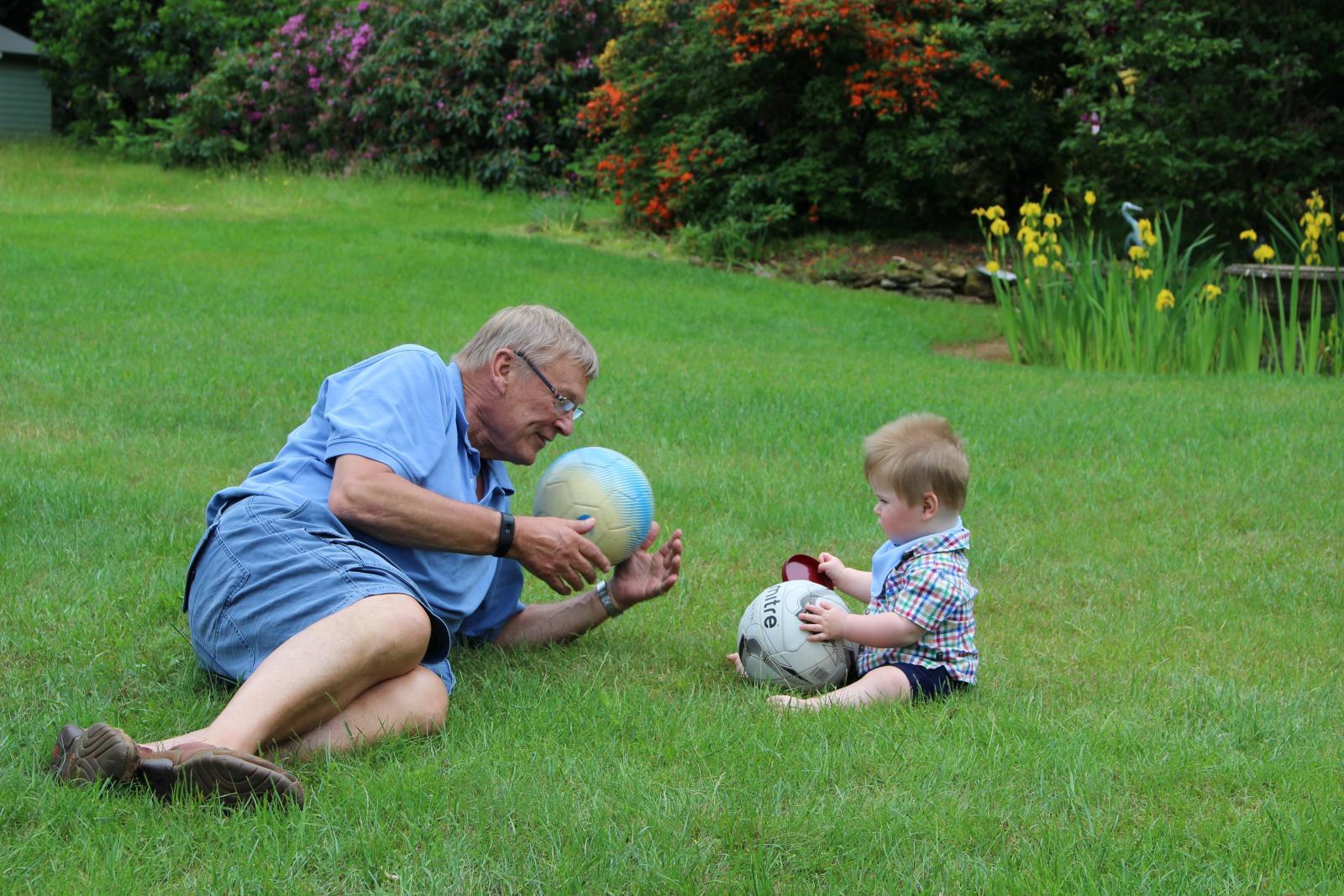 My dad (AKA Grandpa) with Teddy
