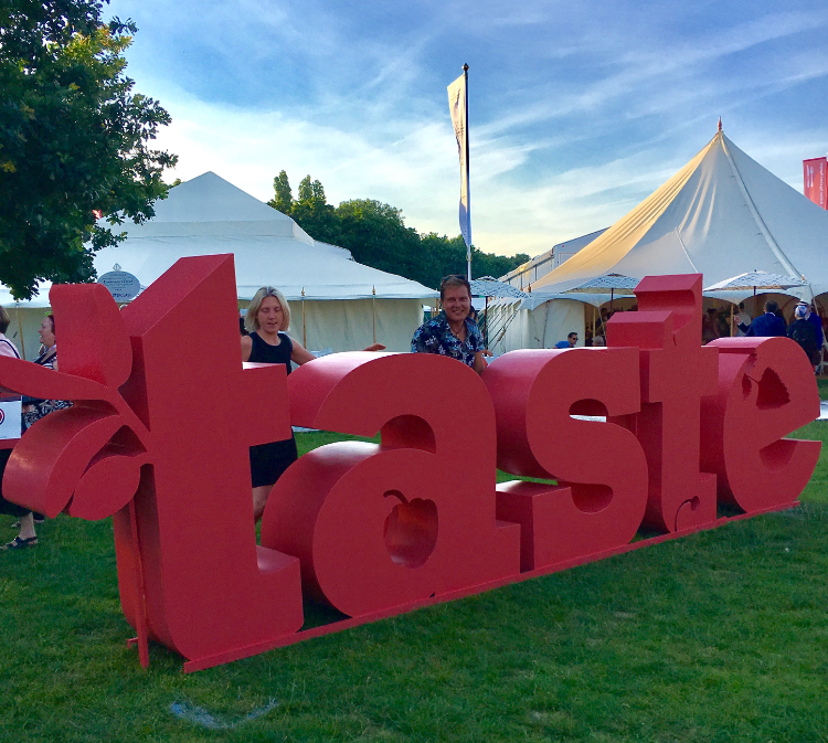 Taste of London with AEG - learning to cook