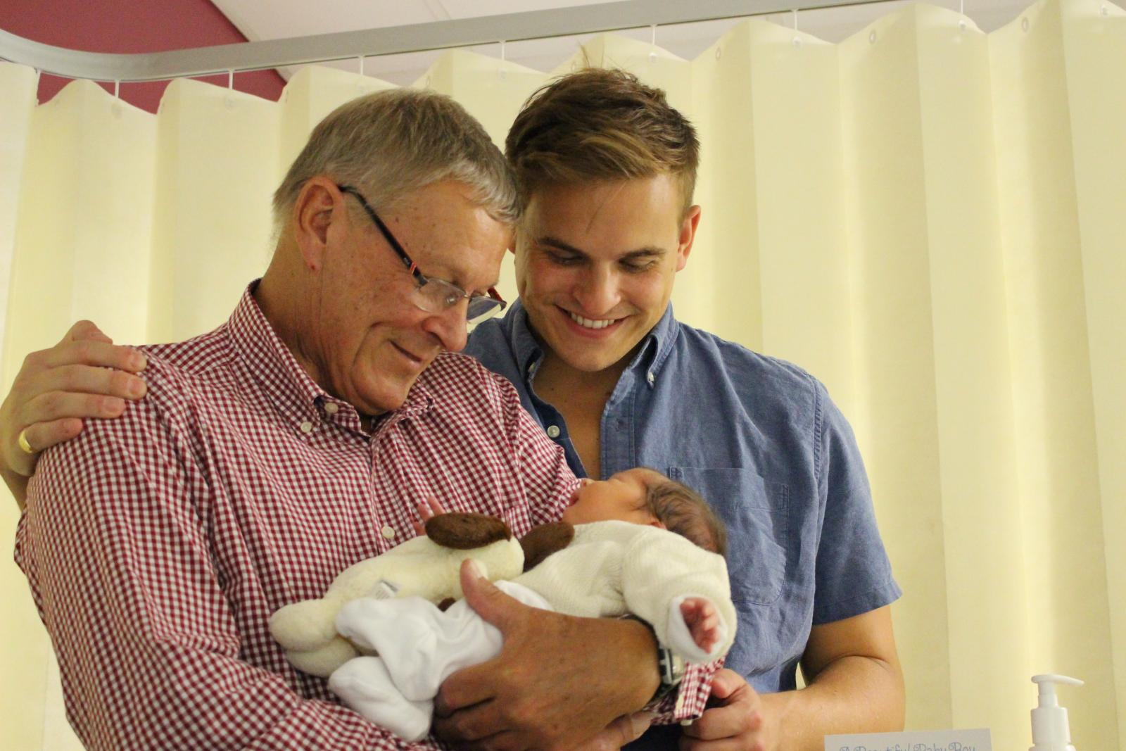 Me, my dad and Teddy