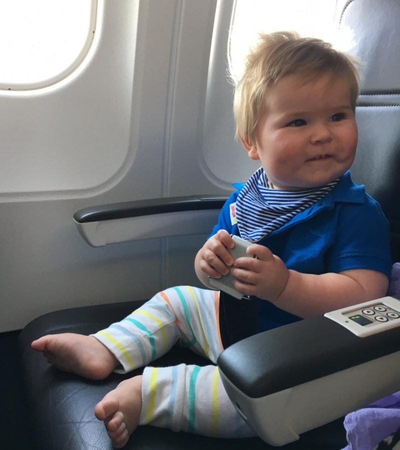 First flight with a baby