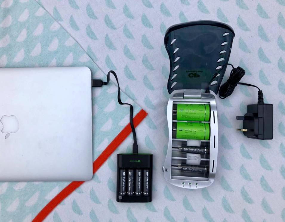 The rechargeable battery kit from GP Batteries