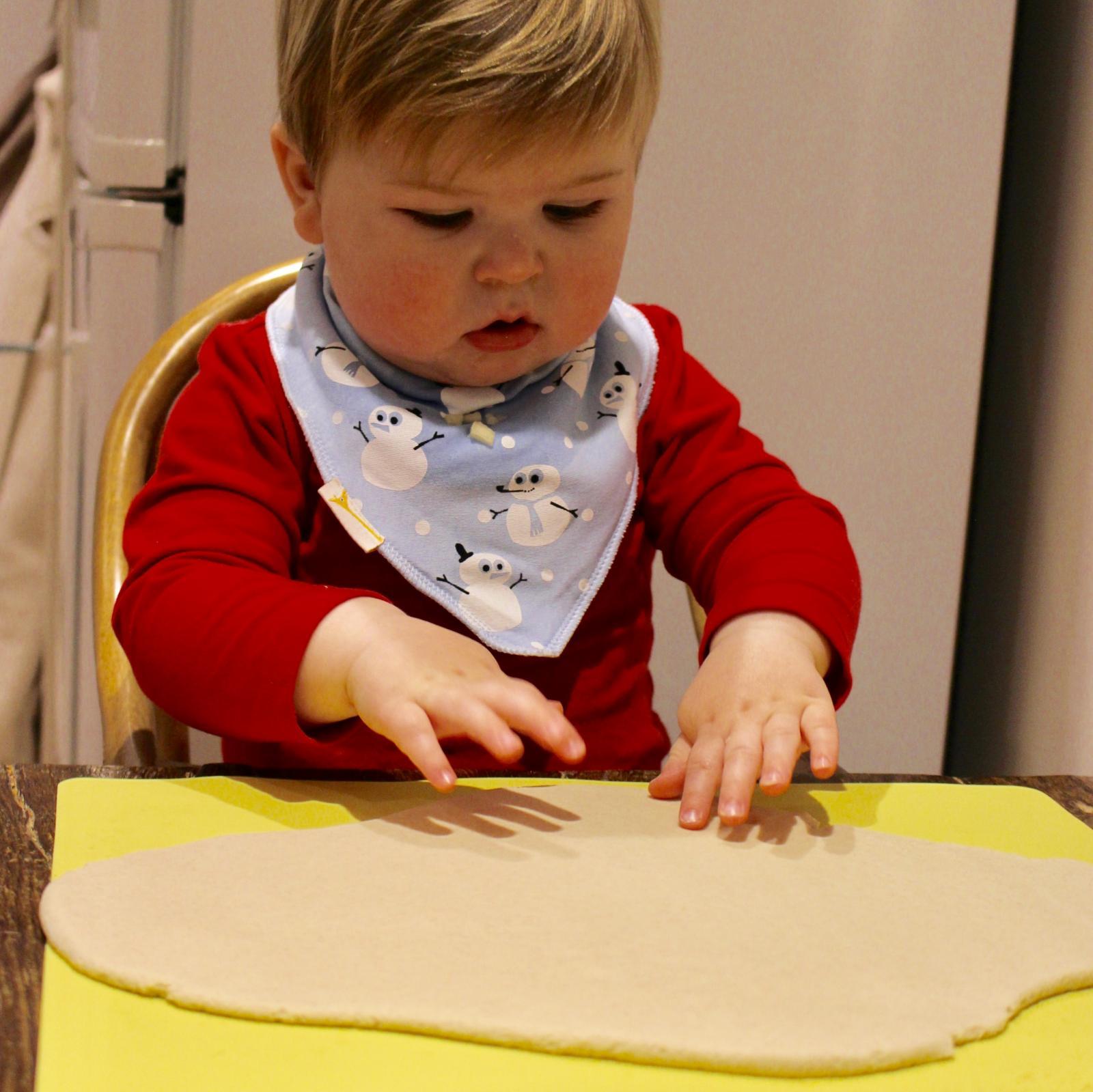 Salt Dough Handprint Decorations - ready for handprints