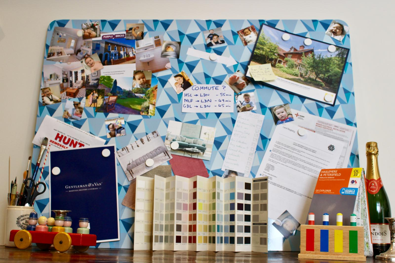 Moving out out - our magnetic mood board from Beyond the Fridge