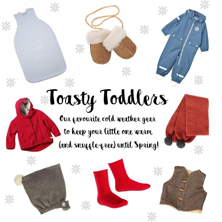 Toasty Toddlers cold weather gear
