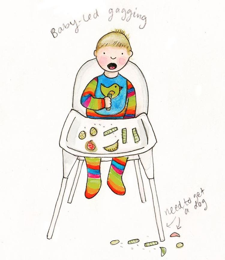 The realities of parenting - baby led weaning