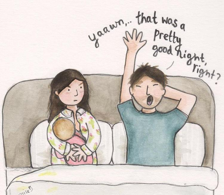 The realities of parenting - snorer