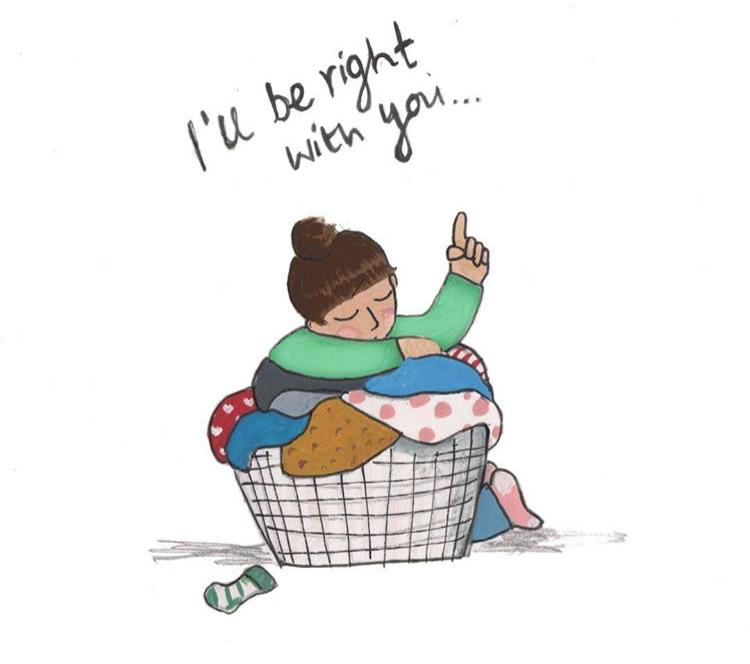 The realities of parenting - laundry hell