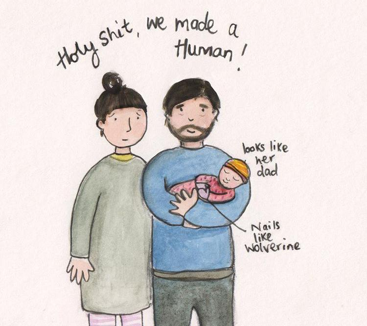 The realities of parenting - we made a human
