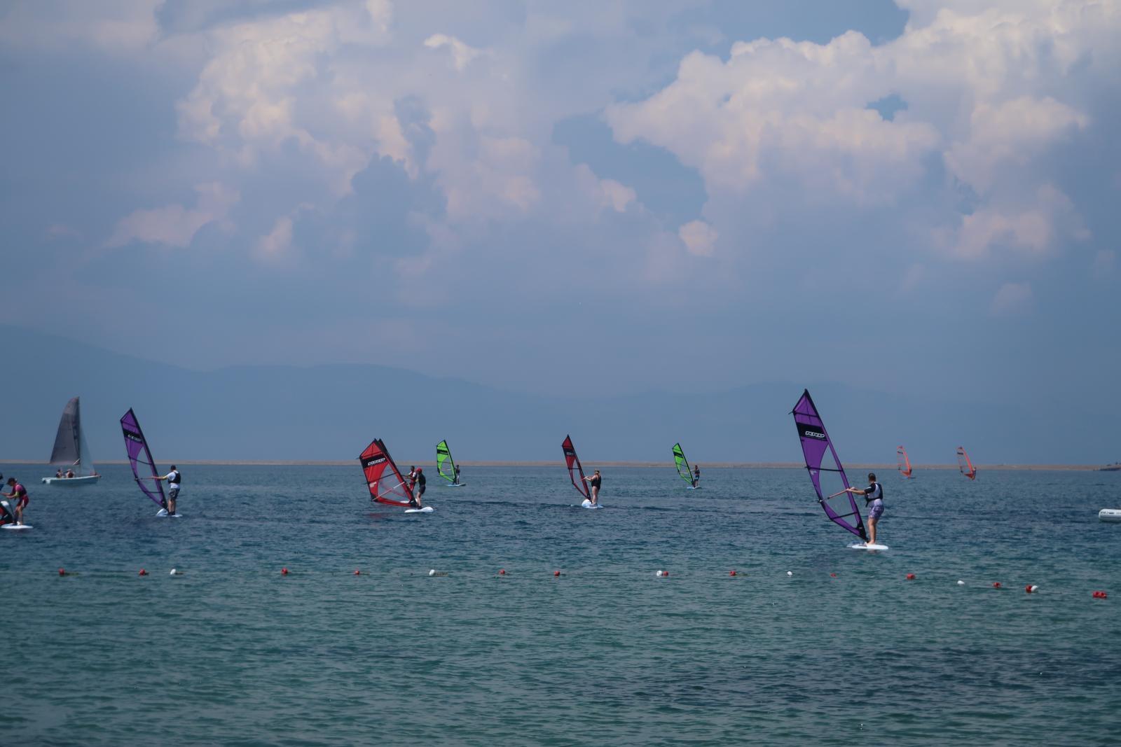 Mark Warner windsurfing