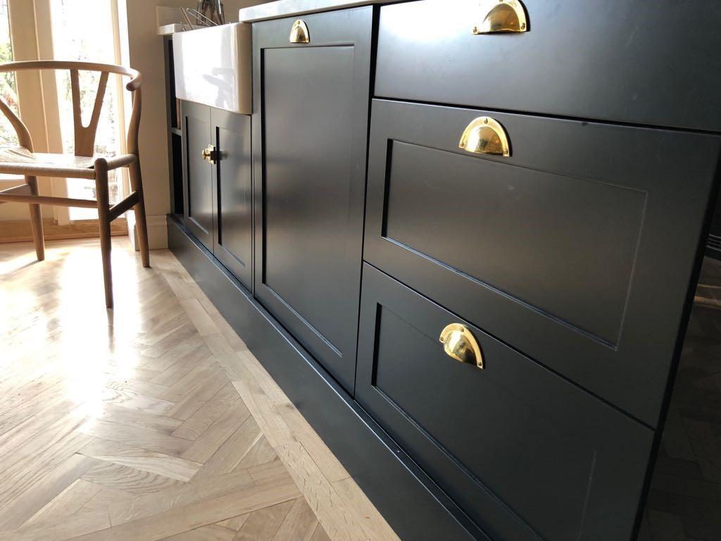 Kitchen Design Inspiration - brass handles