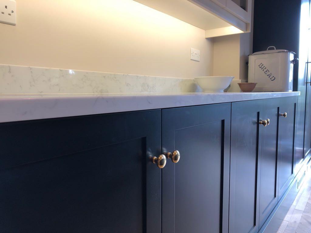 Kitchen Design Inspiration - brass knobs
