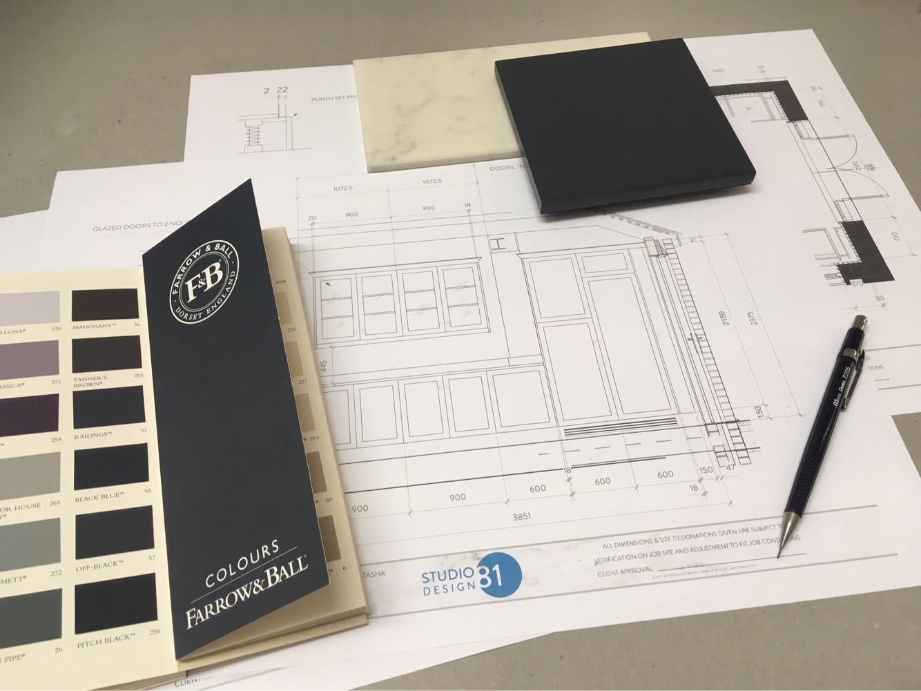 Kitchen Design Inspiration - planning drawings
