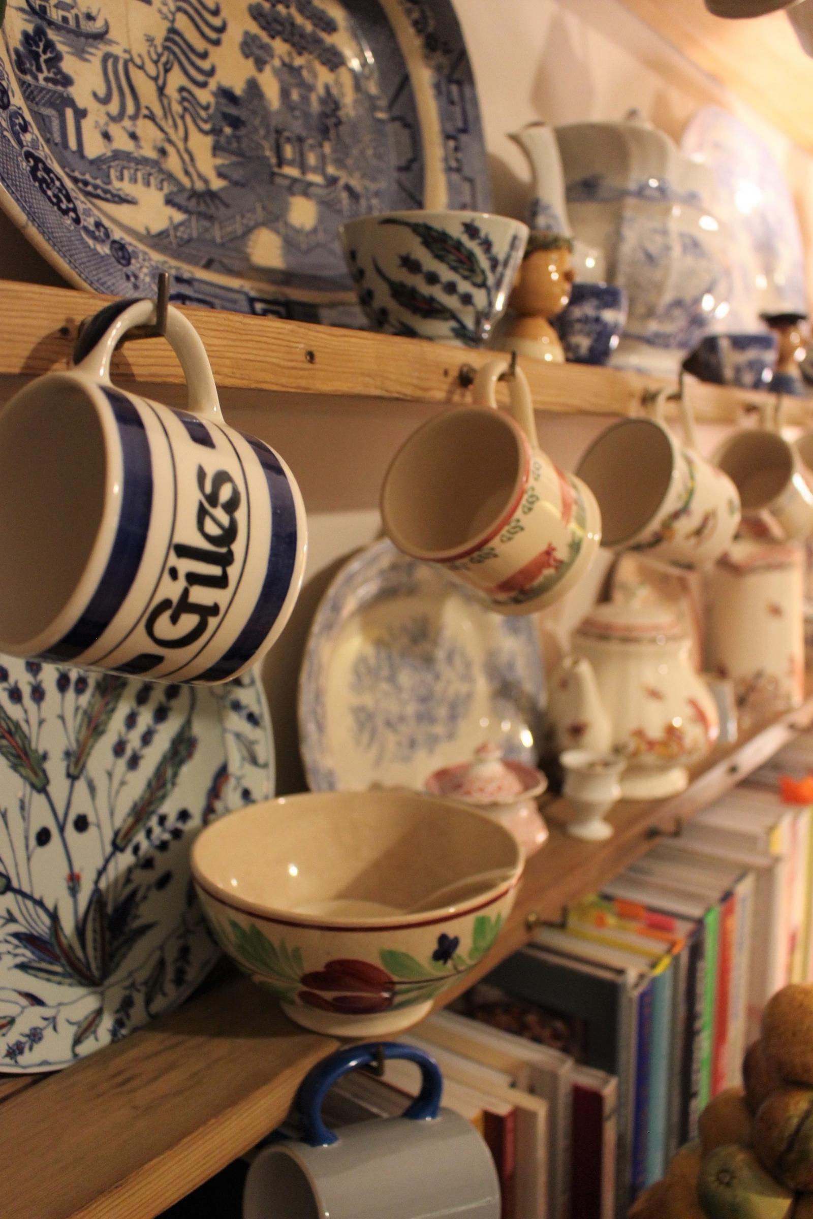 Kitchen Design Inspiration - wedding china and lovely mugs