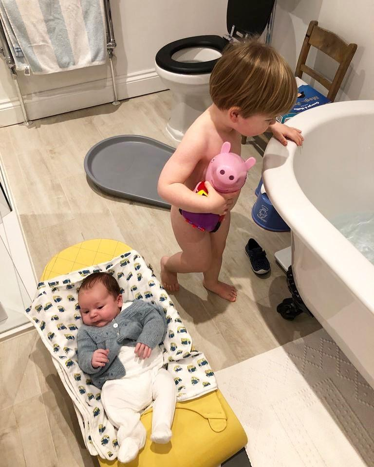New mum diary - bath time with two