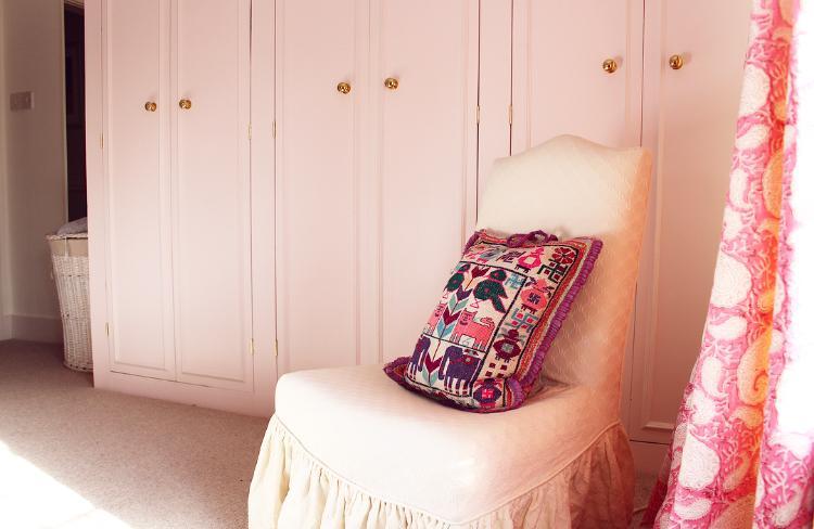 Our pink bedroom - pink wardrobes