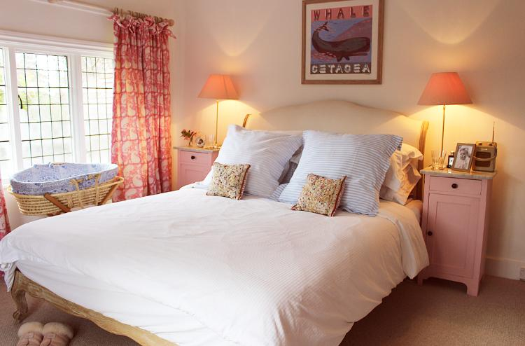 Our pink bedroom - beautiful Coco bed from Loaf