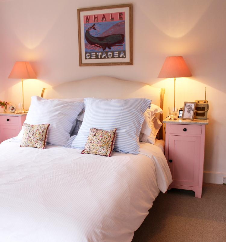 Our pink bedroom - marital bed
