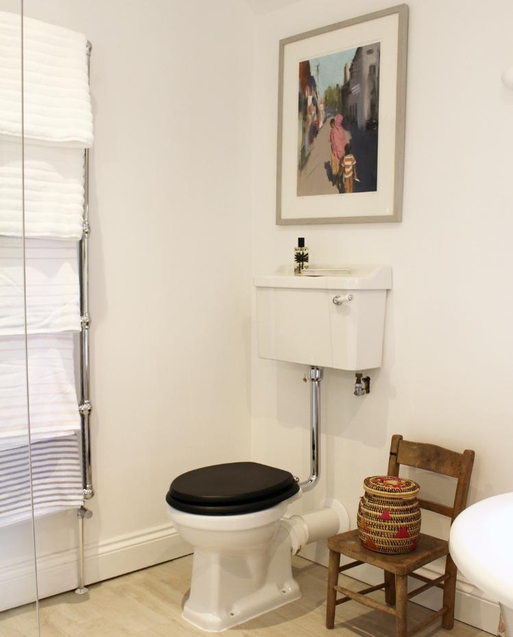 New family bathroom - WC and towel rail