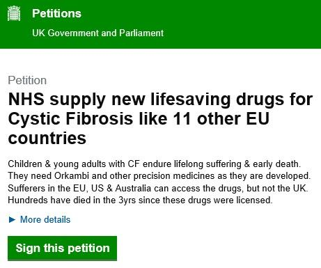 Cystic Fibrosis petition