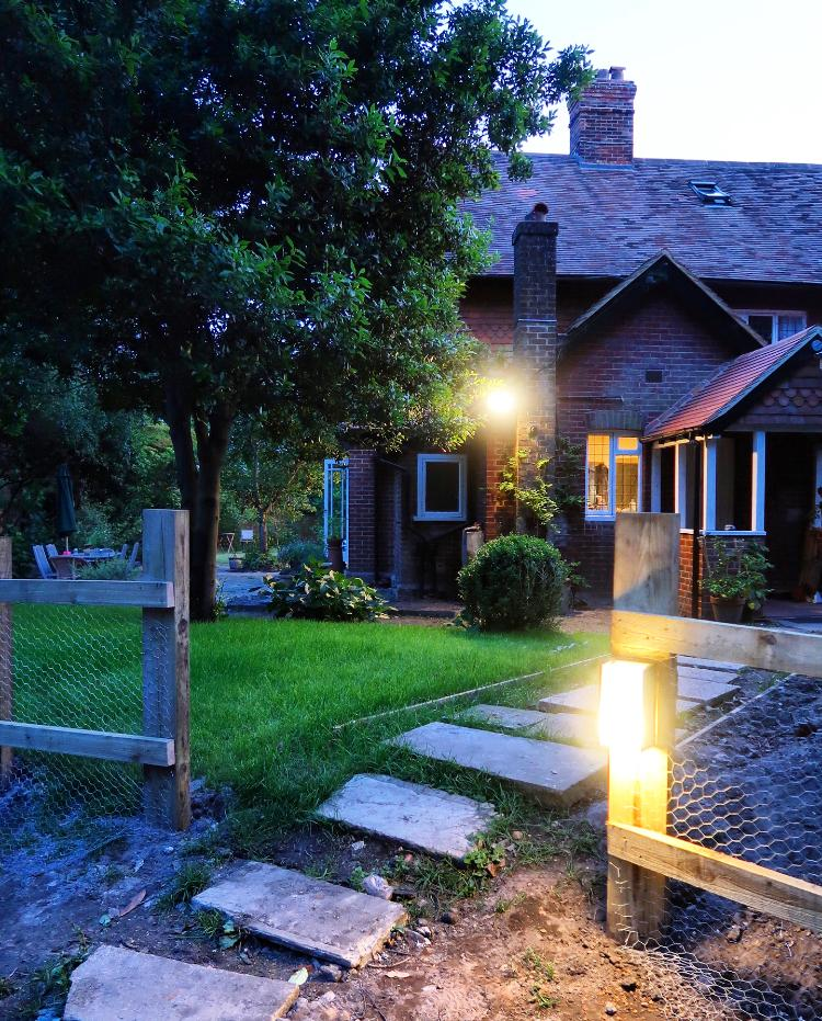 Our home and new outdoor lighting
