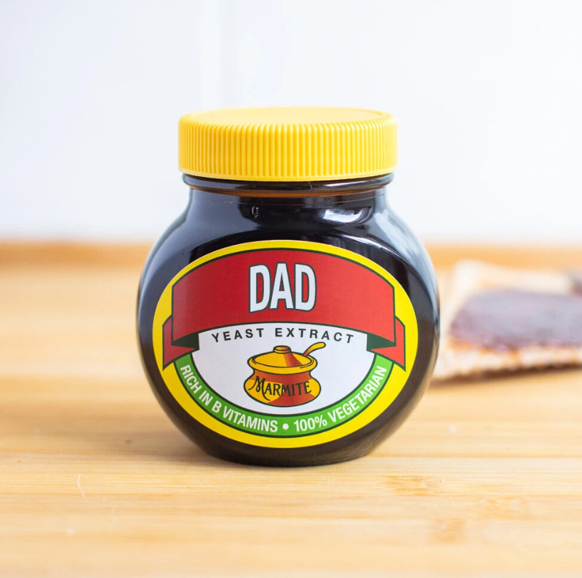 Thoughtful gifts for men - personalised jar of Marmite