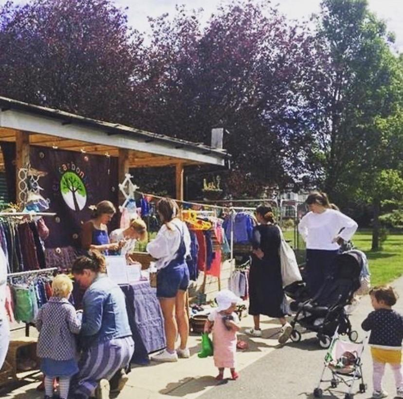 Second hand clothing stall