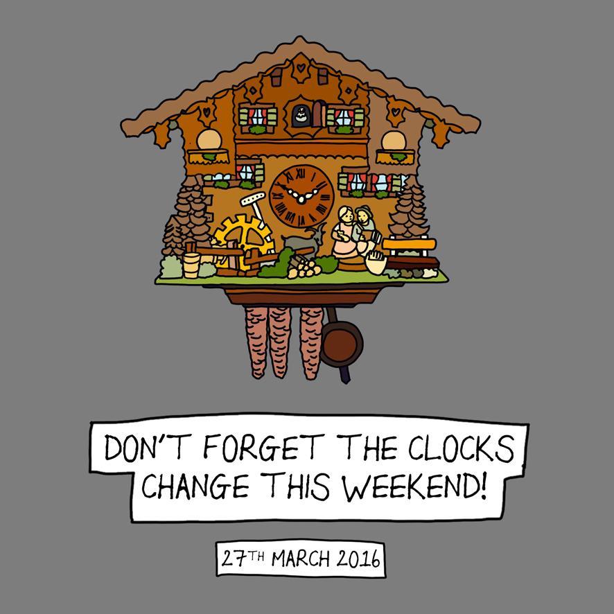 Damn you Daylight Savings! One hour less sleep this weekend…