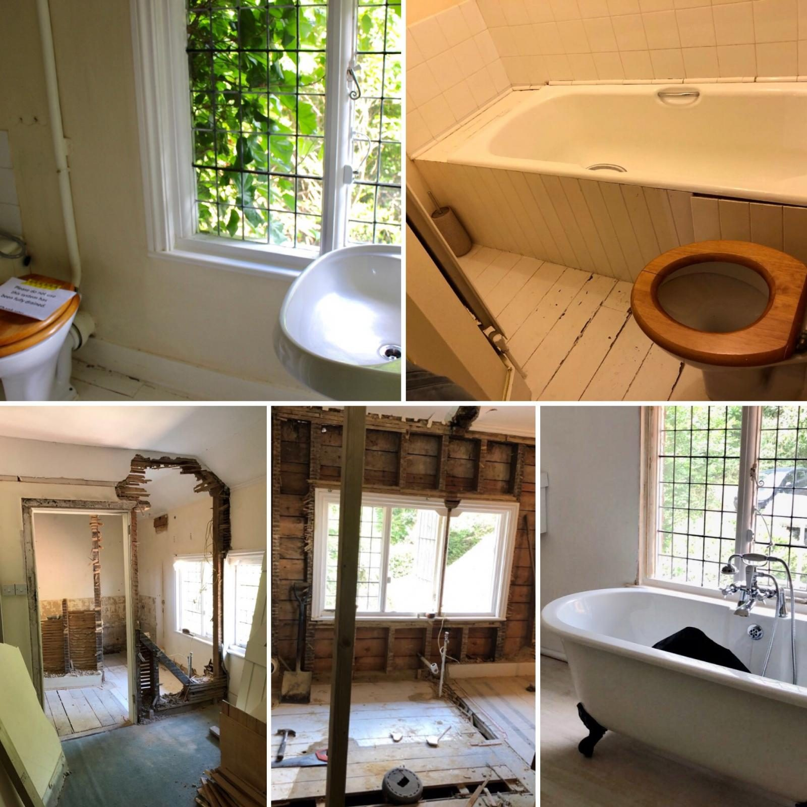 Our bathroom transformation – from Victorian water closet to modern family bathroom